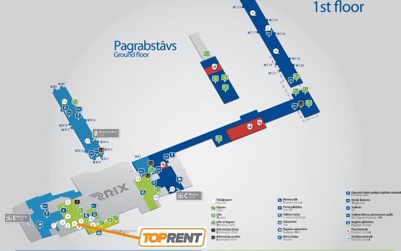 Automobilių nuoma Rygos oro uoste RIX